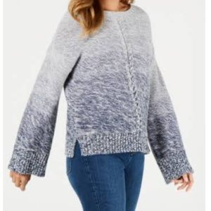 Style & Co Long Sleeve Front Braid Sweater XSmall